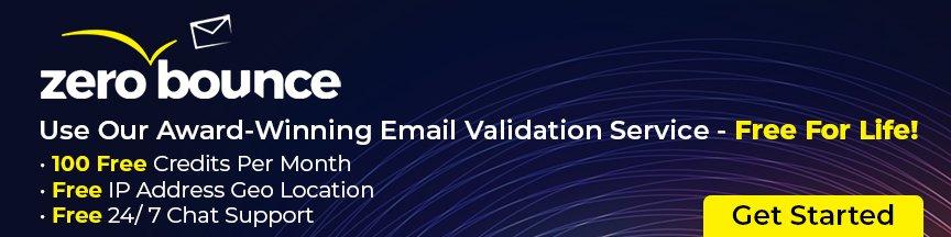 ZeroBounce Email Verification